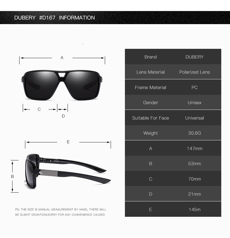 DUBERY Vintage Sunglasses Polarized Men