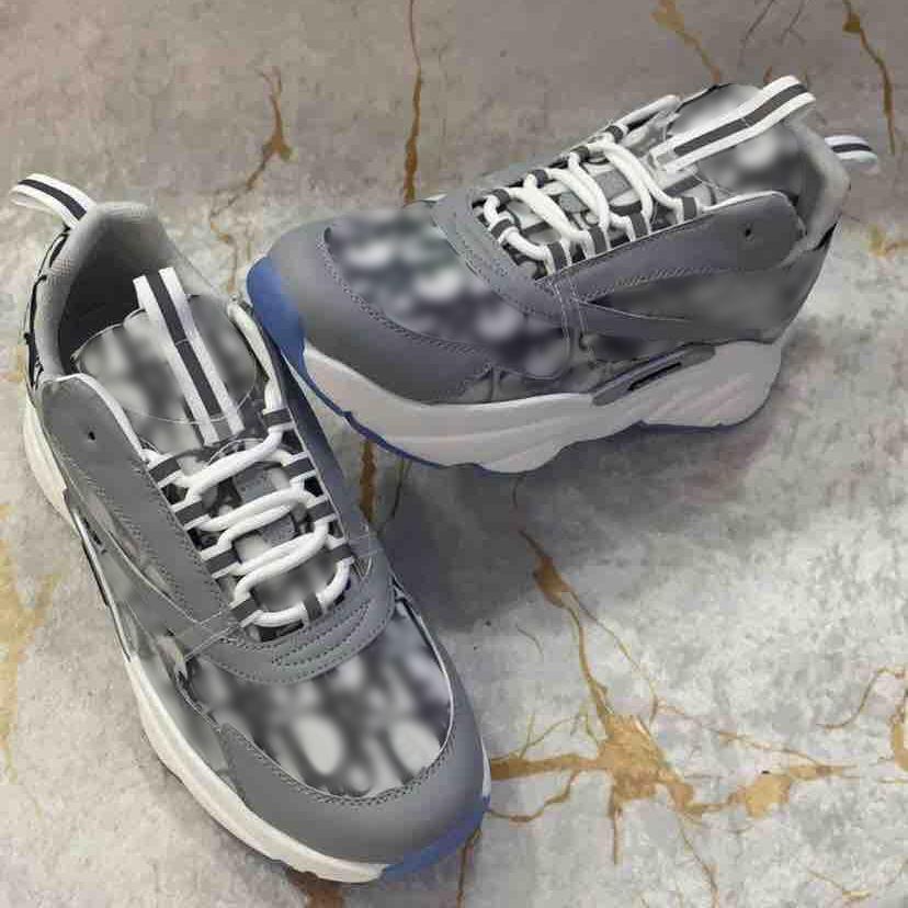 Men luxurys designers Oblique B22 Sneaker Vintage Platform Sneakers Women Lace-up Calfskin Oblique Trainers Casual shoes size 35-47 With Box