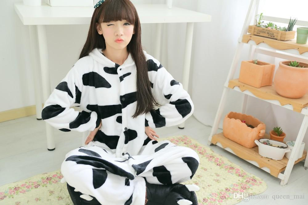 furry Fleece Lovely Adult Unisex Animals Lovely dairy milk cow Pajamas Onesie Sleepsuit Cosplay Milk Sleepwear Cartoon Cow onesies jumpsuit