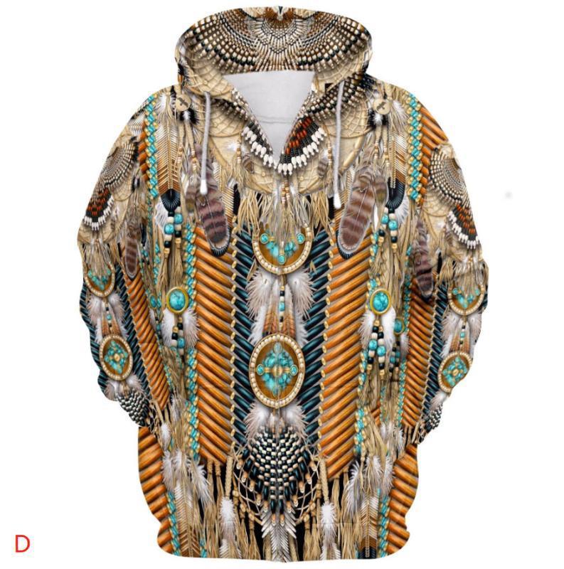 Men's Hoodies & Sweatshirts Men Clothes 2021 Native Fashion Harajuku 3D Full Printed Hoodie Winter Jacket Women Hiphop Casual Style Dropship