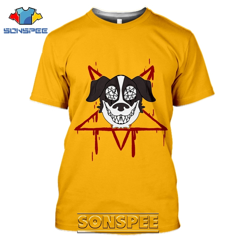SONSPEE 3D Print Mr Pickles T-shirts Men Women Casual Harajuku Short Sleeve Streetwear Hip Hop Anime Satan Evil Tees Tops Shirt (4)