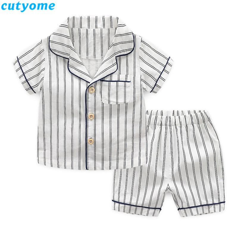 korean fashion toddler kids striped pajamas set18