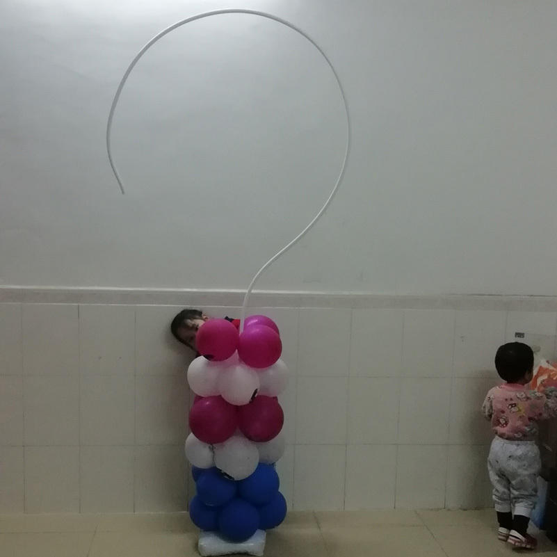 question mark balloon stand frame -6