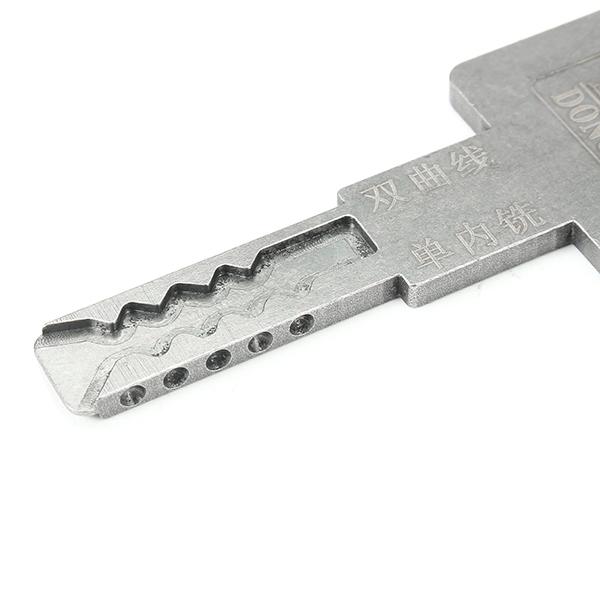 Single/Double Groove Curve Unlocking Key Lock Opener Lock Pick Tools