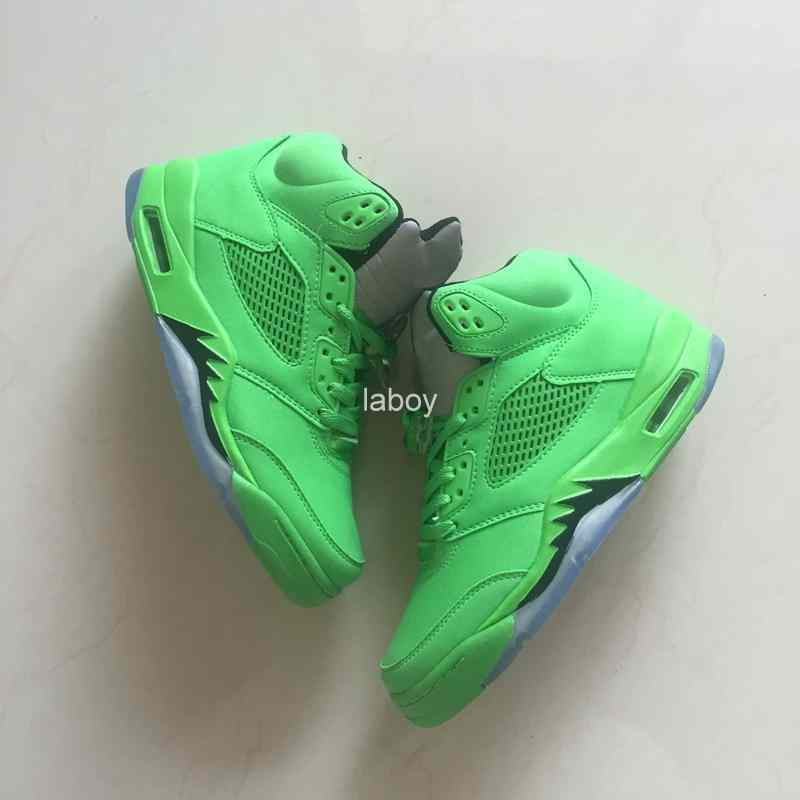 New Men 5 V Basketball Shoes Cheap Green Outdoor Sneakers 5s Basket ball Boots Mens Trainers Athletics Sports Shoes Size 41-47