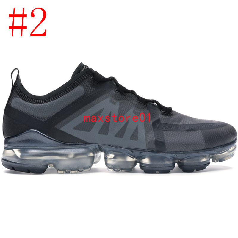 New Arrival 2020 Mens Women Running Shoes Triple Black White Lightweight Breathable Flair Cushion Designer Mesh Sports Sneakers 36-45