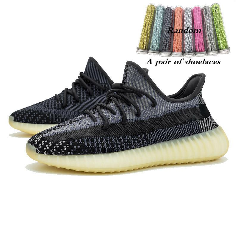 Asriel Kanye West Static Black Refective v2 Running Shoes Israfil Cinder Desert Sage Tail Light Zebra Womens Mens Outdoor Trainers Size 13