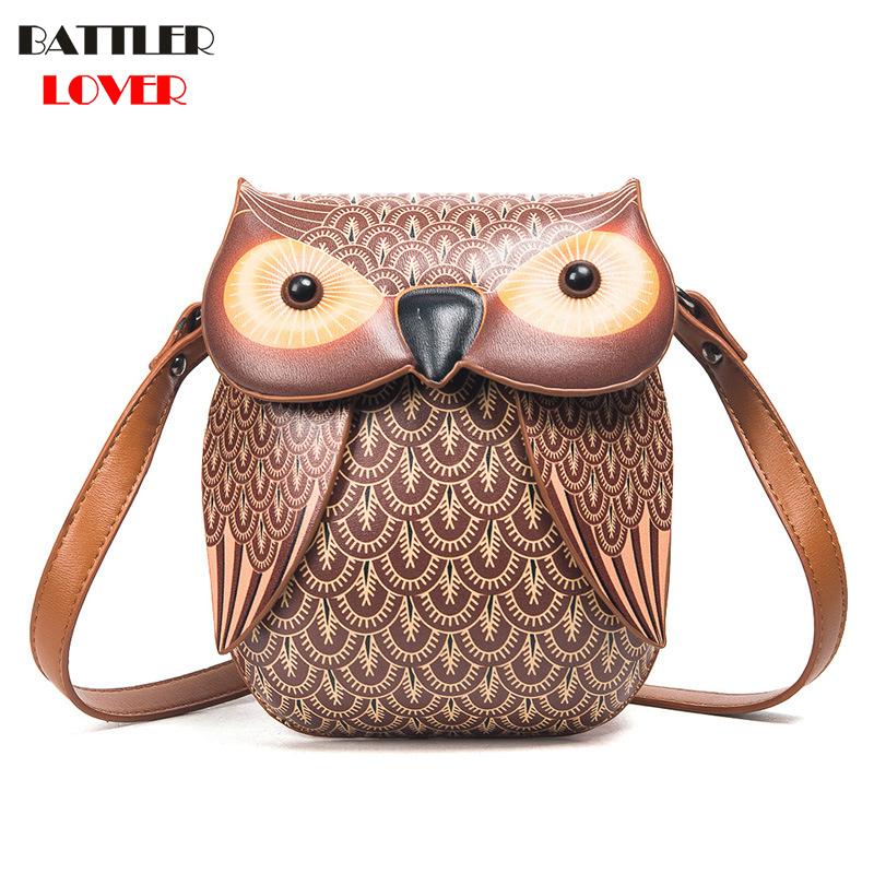 New Cute Owl Shoulder Bag Purse Handbag Women Messenger Bags For Summer Girls Cartoon with Crossbody Phone Bag Owl Bags