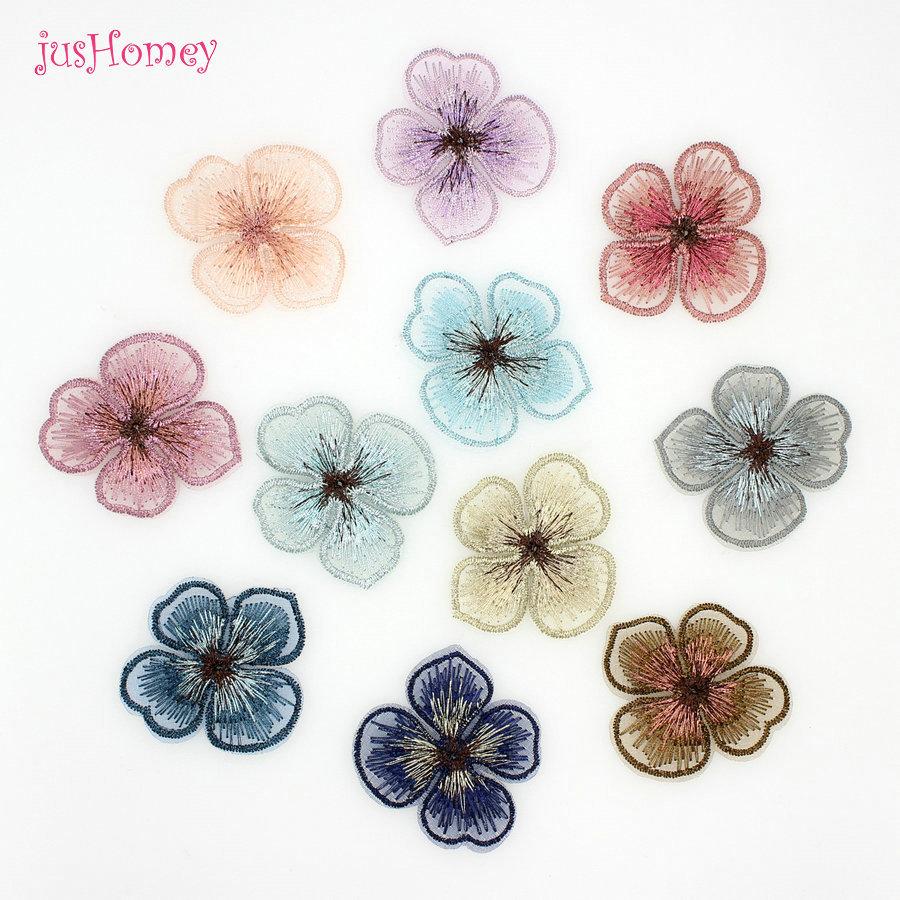 Mehrfarbige Tüll Chiffon Blumenform Dekoration DIY Haarschmuck Kopfbedeckungen