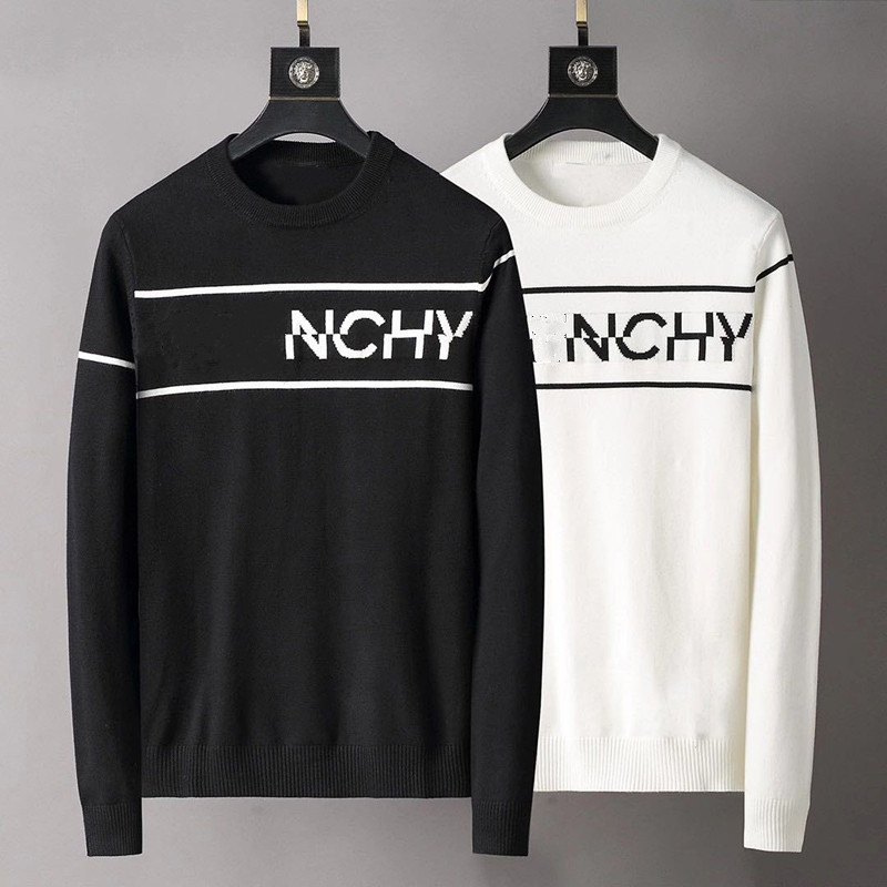 2021 Men's sweater letter embroidery knitted sweater winter sweatshirt round neck round neck long sleeve sweater female design