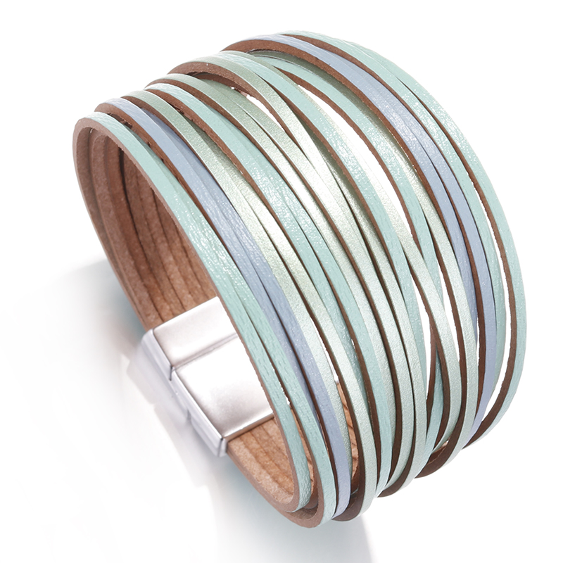 2020 Mint Leather Bracelets For Women 2020 Fashion Ladies ...