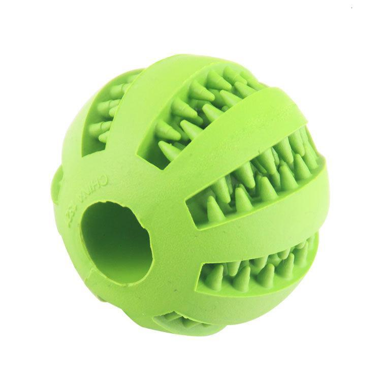 Rubber Chew Ball Dog Toys Training Toys Toothbrush Chews Toy Food Balls Pet Product 5 cm w-00319
