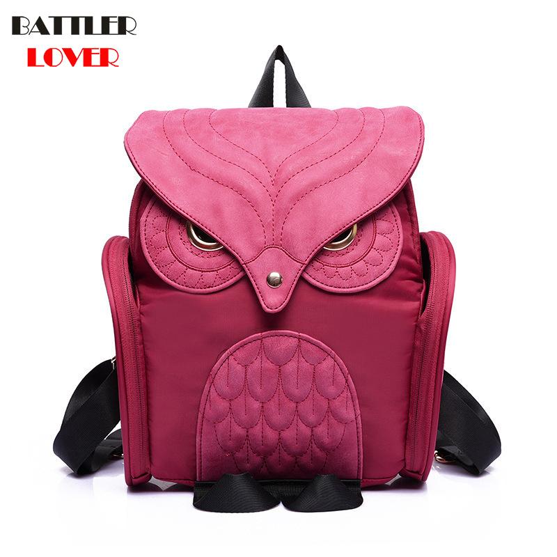 Fashion Cute Night Owl Backpack Women Cartoon School Bags For Teenagers Girls Leather Women Backpack Brands Mochila Sac A Dos