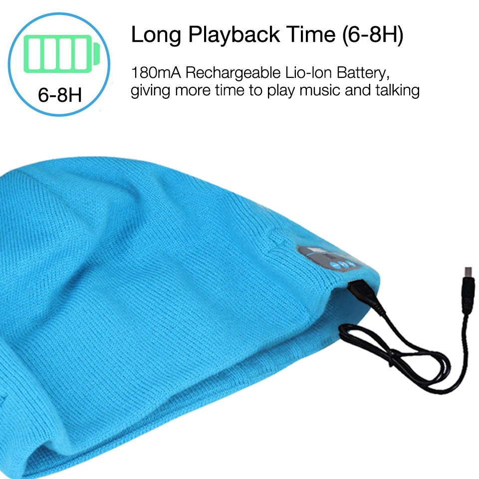 August EPA20L Rechargeable Bluetooth Beanie Hat