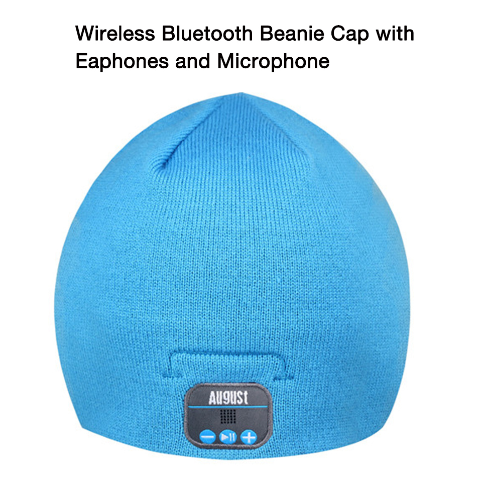 August EPA20 Wireless Bluetooth Beanie Hat with Speakers,Headphones and Microphone