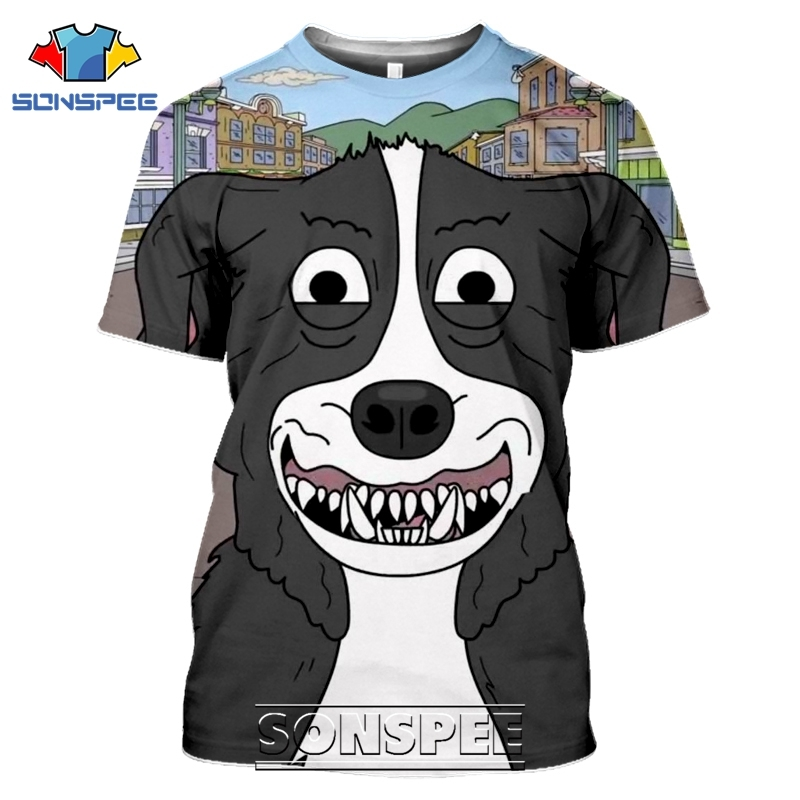 SONSPEE 3D Print Mr Pickles T-shirts Men Women Casual Harajuku Short Sleeve Streetwear Hip Hop Anime Satan Evil Tees Tops Shirt (8)