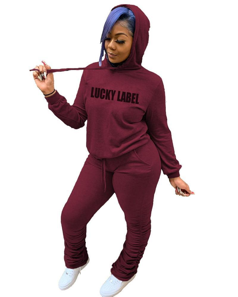 womens two piece set tracksuit shirt pants outfits long sleeve sportswear shirt trousers sweatsuit pullover tights sportswear hot klw5260