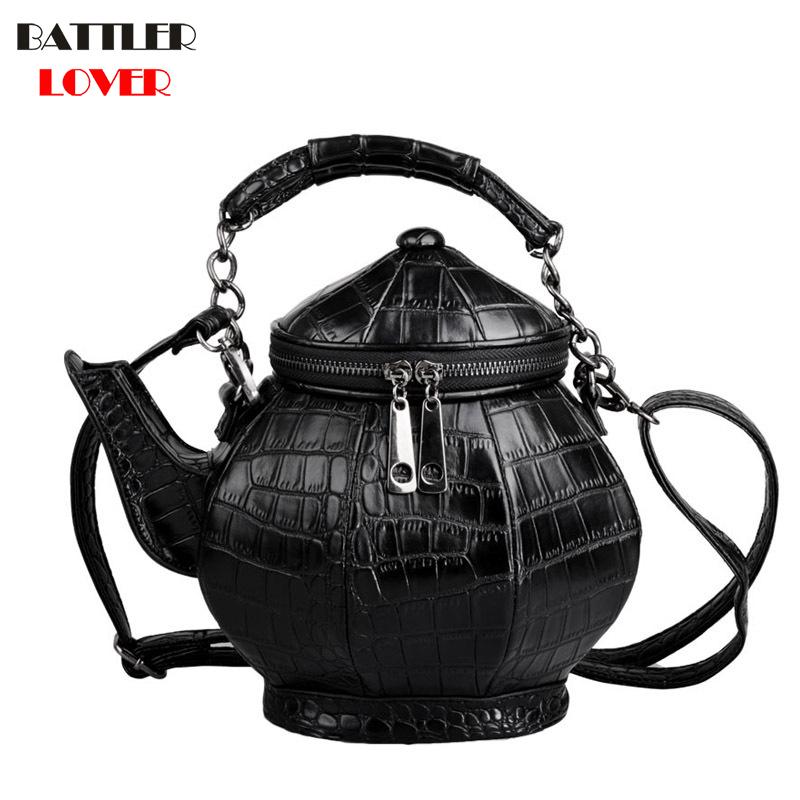 Fashion Funny Teapot Shaped Handbag Women