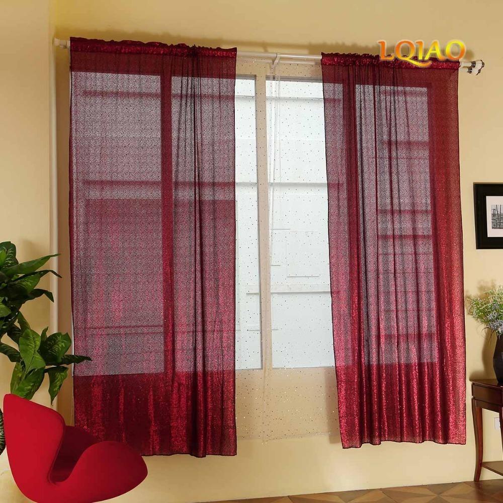 Burgundy Sequin Curtain 001