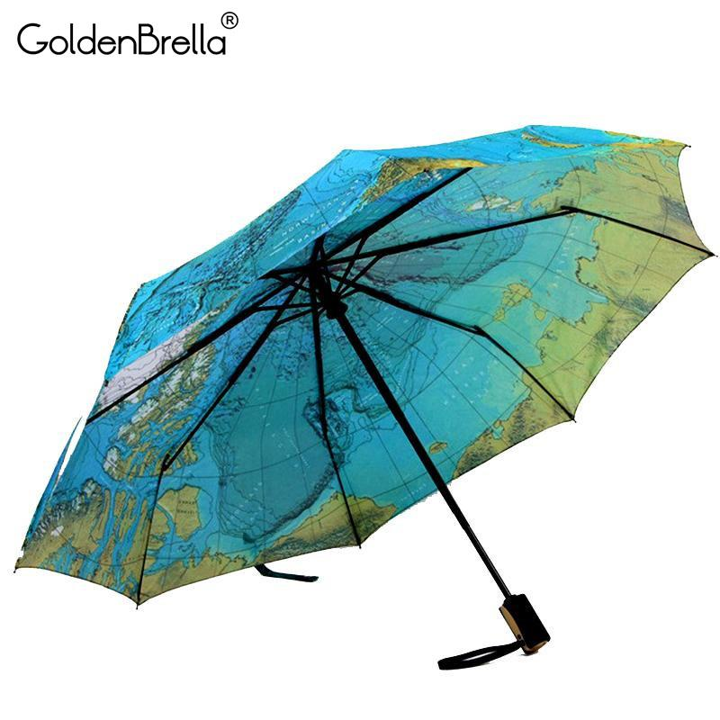 Autism Awareness Dinosaur Puzzle Piece Automatic Tri-fold Umbrella Folding Rain Umbrell Sunshade
