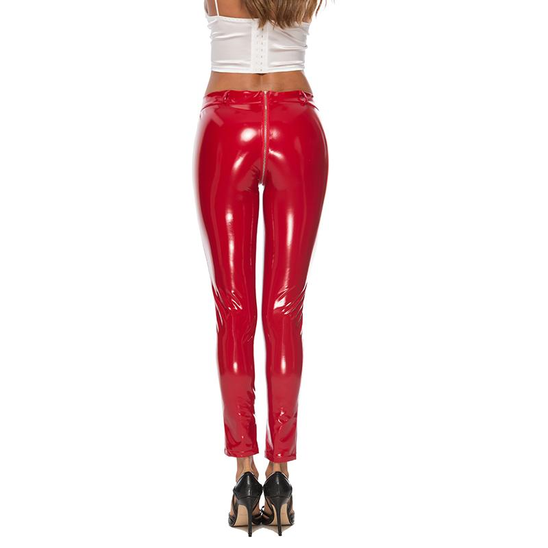Women Sexy Pants Shiny Leather Tight-Trousers Flexible Stretch Bottoms Latex Leggings Club Costumes Women Casual Skinny Pants