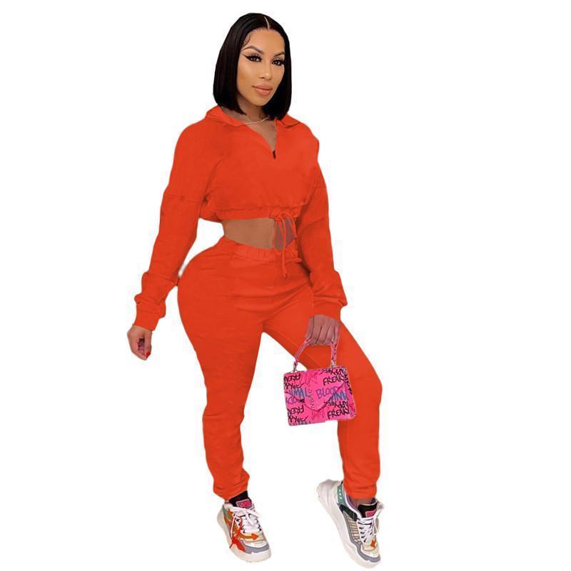 Womens outfits long sleeve set tracksuit jogging sportsuit shirt leggings outfits sweatshirt pants sport suit hot selling klw5270
