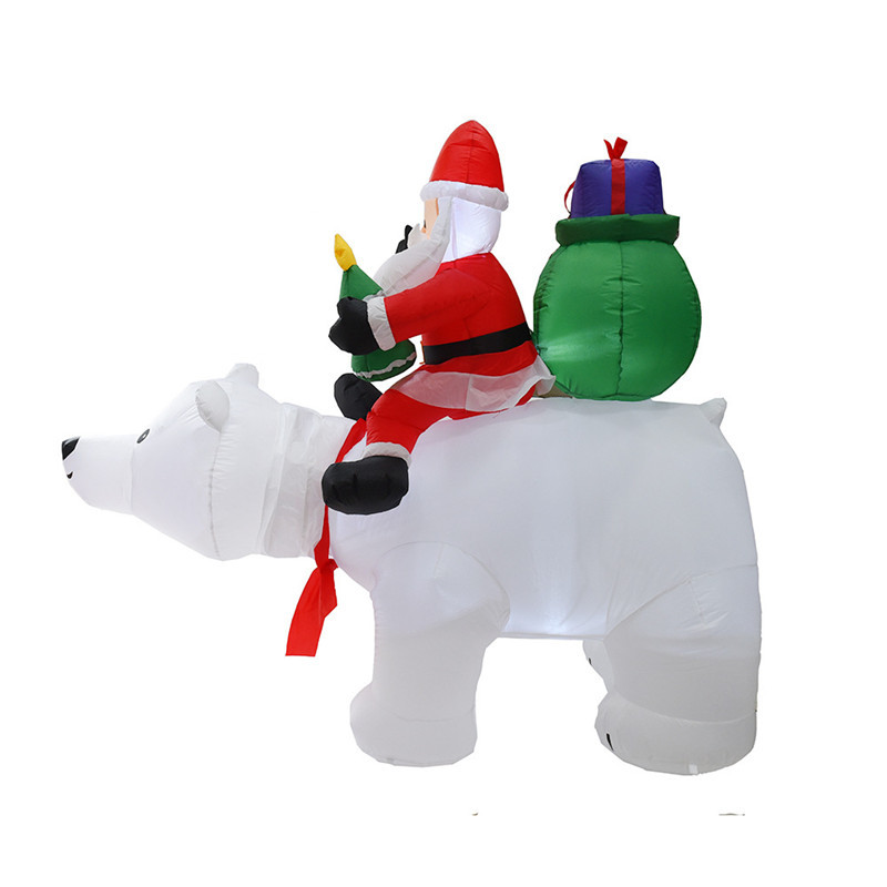 Inflatable Santa Claus Father Costume Parade Blow Up Xmas Jumpsuit Adult Outfit