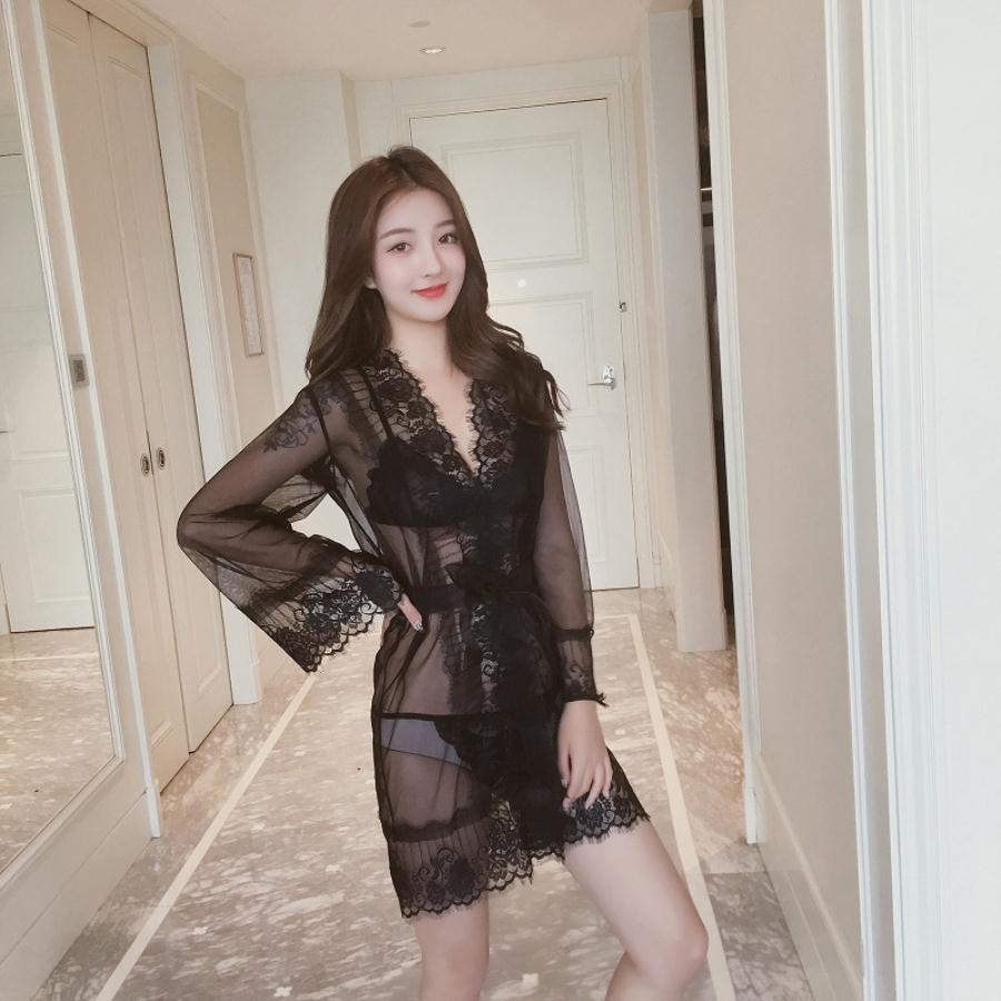 woman lingeries luxury Sexy Lingerie sexe underwear women designer underwears Lace Femme sleepwear pajamas sets Nightdress black white