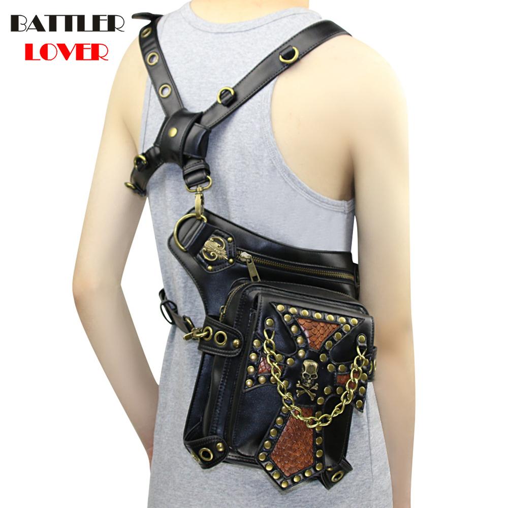 Lady Pockets Retro Messenger Bag Punk Mujer Femme Women Shoulder Bag Women