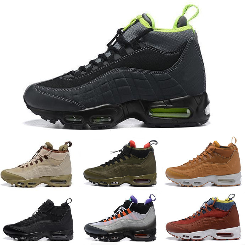 95s Black Dark Loden Red Green Waterproof 95s chaussures High Top Running Shoes Designer Trainers Ankle Sports Mens Sneakers
