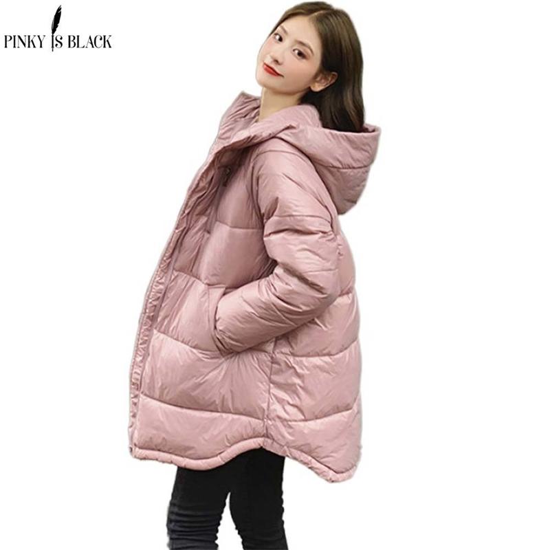 PinkyIsBlack New Fashion Long Winter Jacket Women Slim Female Winter Coat Women Thicken Parka Hooded Cotton Women Clothing 201127