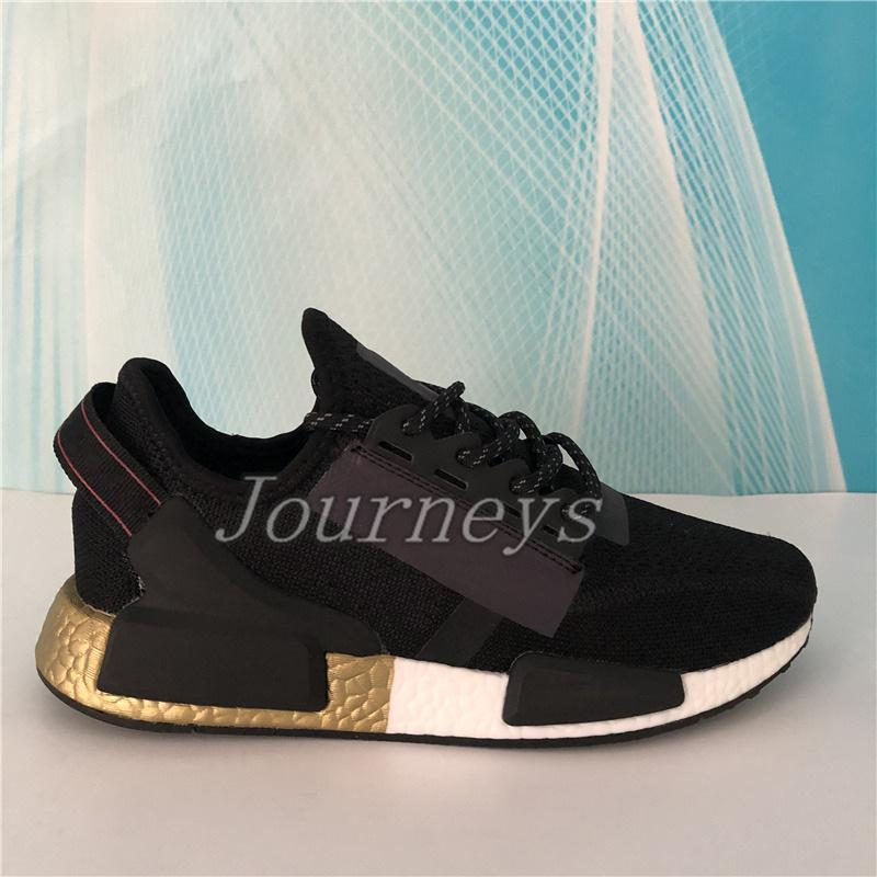 2020 NMD R1 V2 runners Shoes Men Women primeknit Running Sneakers black white blue orange mexico city metallic gold Trainers with box