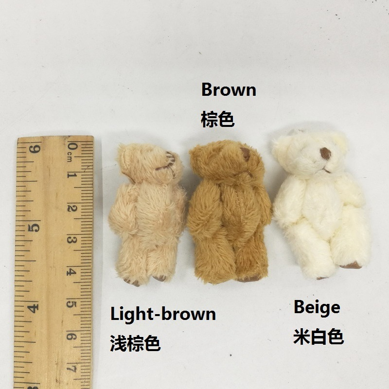 4.5cm long wool bear with foot leather 2