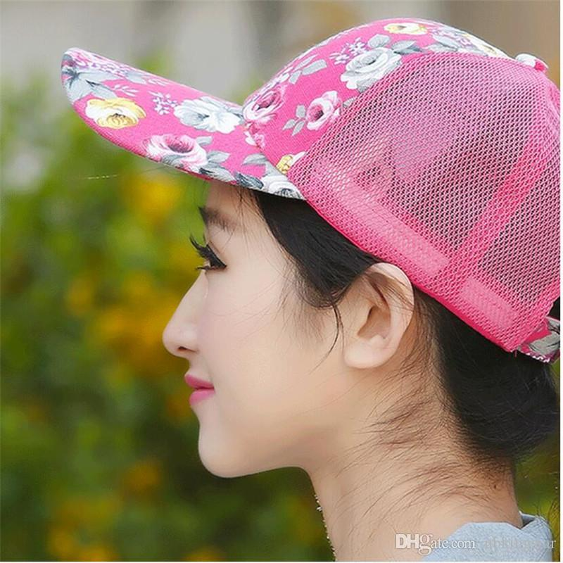 2017 New Floral Hat Baseball Cap Mesh Caps Sports And Leisure Visor Sun Hats Snapback Cap Available