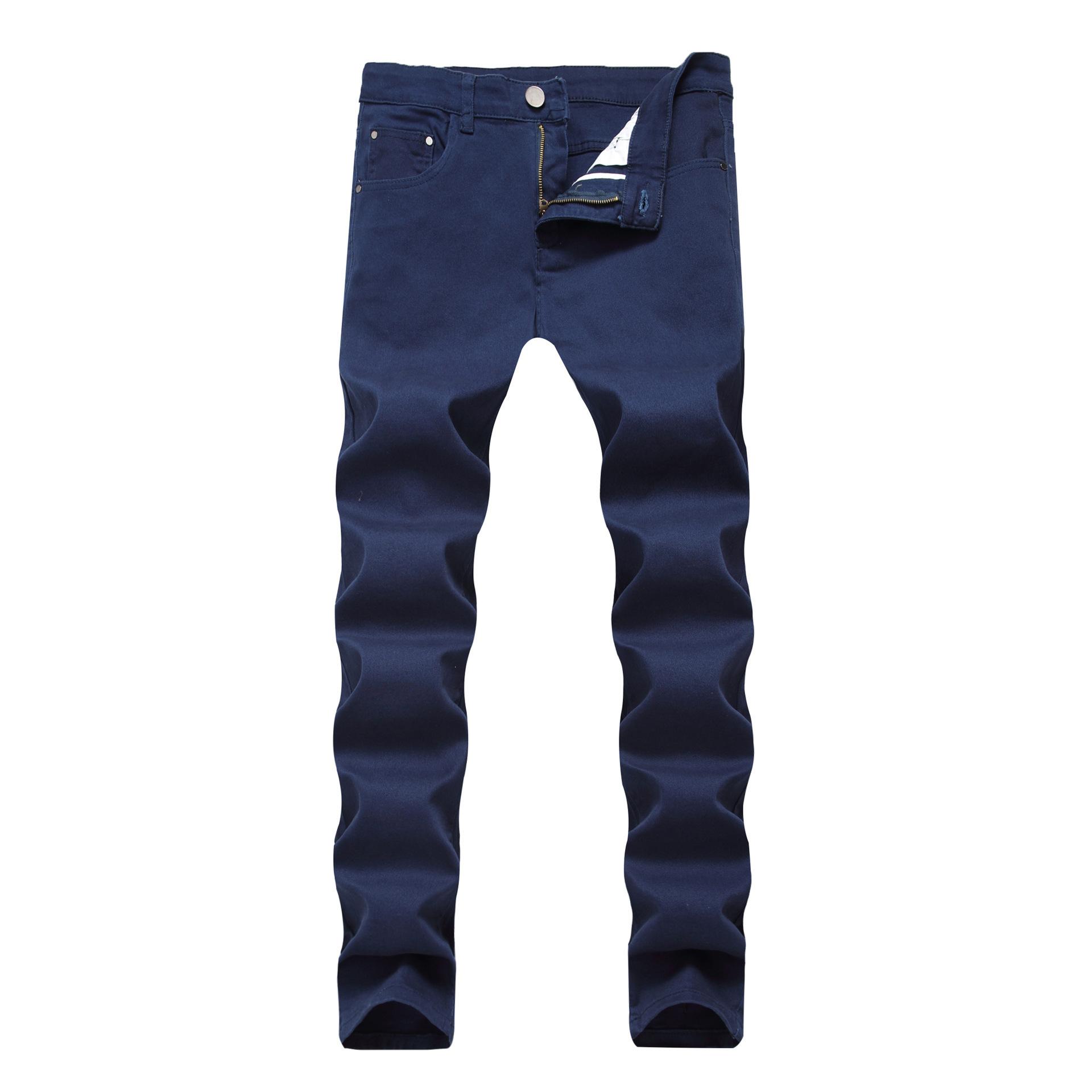 Mens Skinny Jeans 2020 New Classic Male Fashion Designer Elastic Straight Red Black Jeans Pants Slim Fit Stretch Denim Jeans