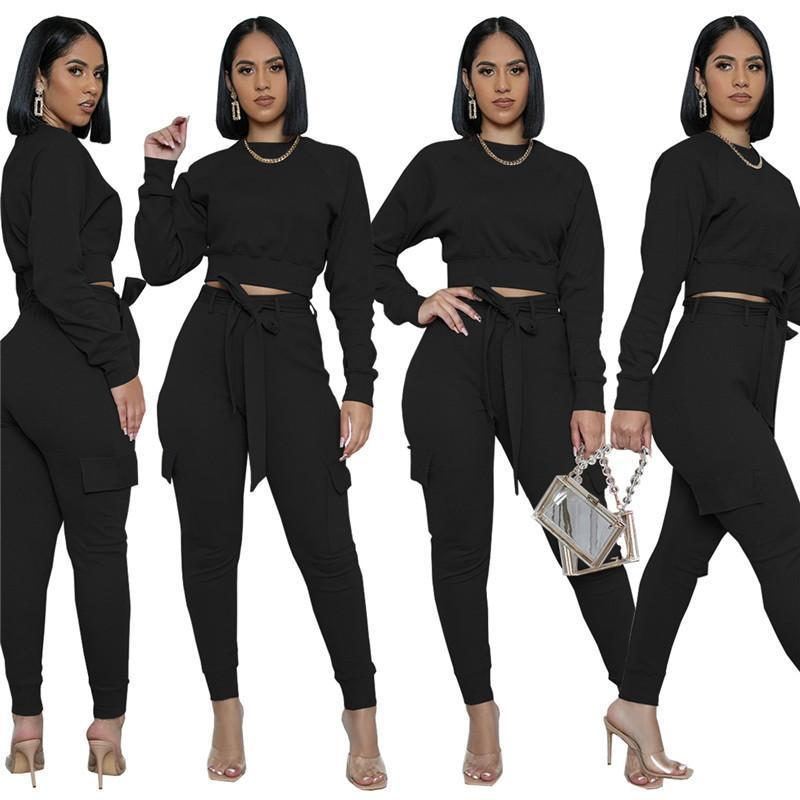 womens sportswear long sleeve pantsuit outfits shirt pants set skinny shirt tights sport suit pullover pants hot selling klw5274