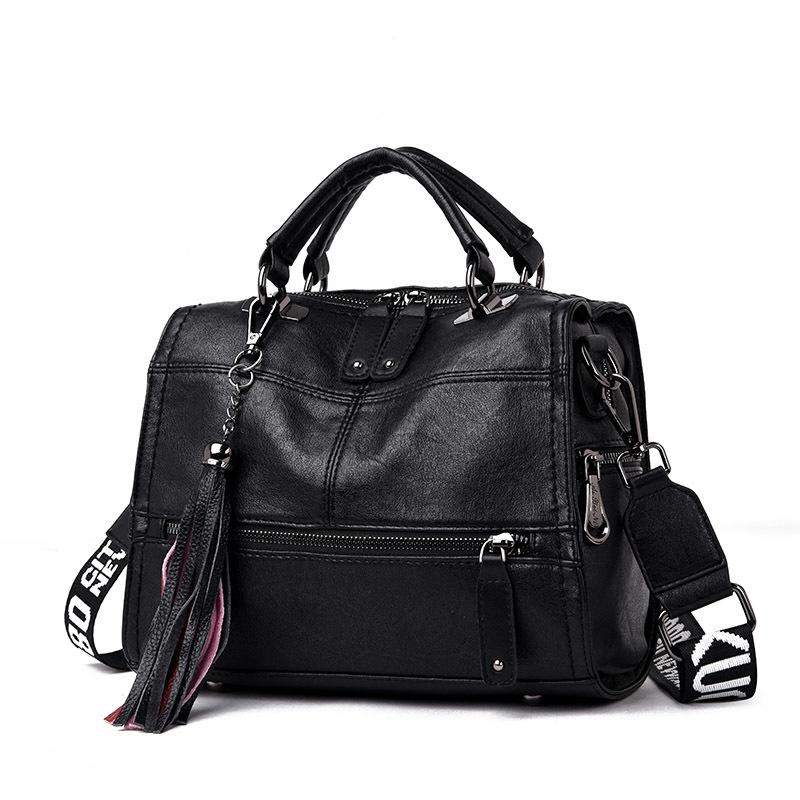 Tassel Women Messenger Bags Leather Luxury Handbags Women Crossbody Bags Designer Ladies Shoulder Bags Large Casual Tote