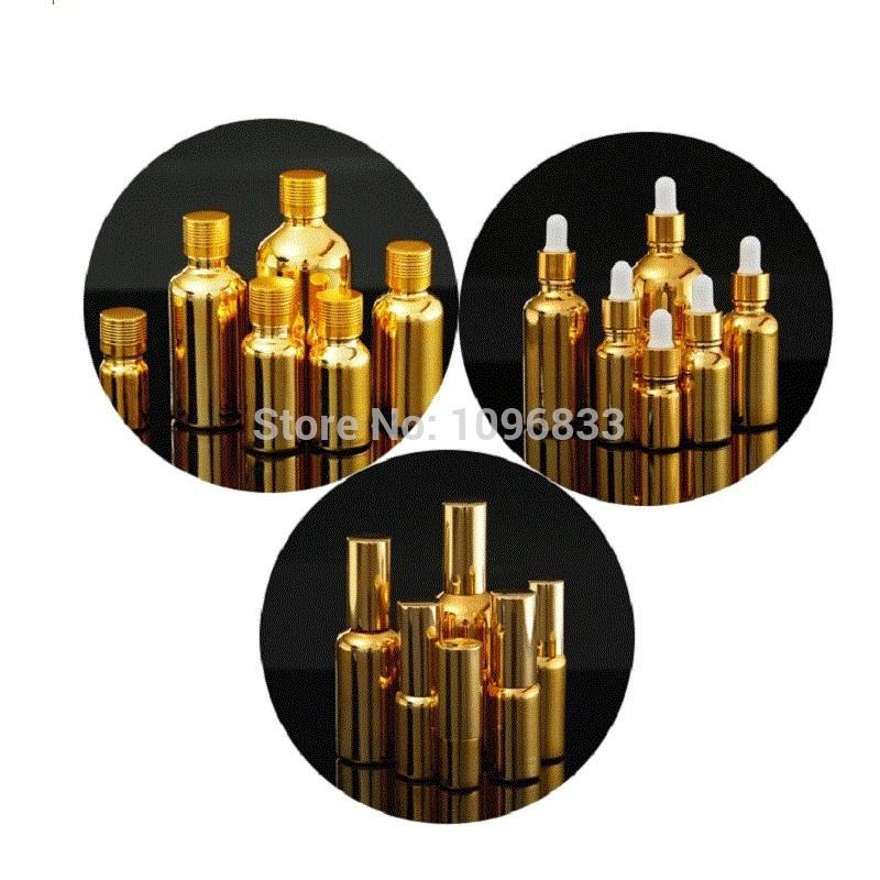 Gold Glass Bottles