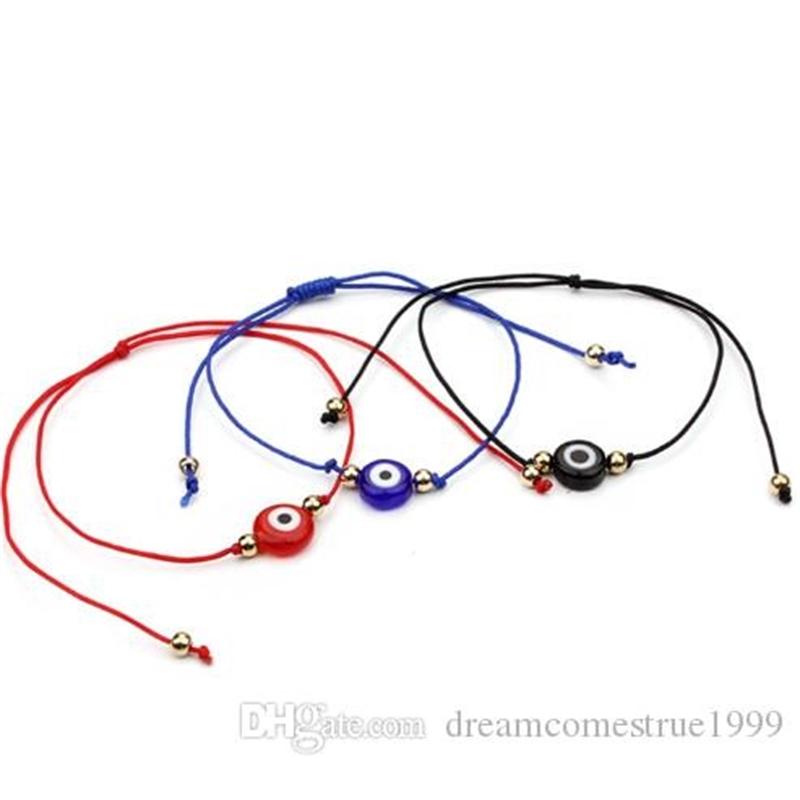 Lucky String Evil Eye Lucky Red Cord Adjustable Bracelet DIY Jewelry