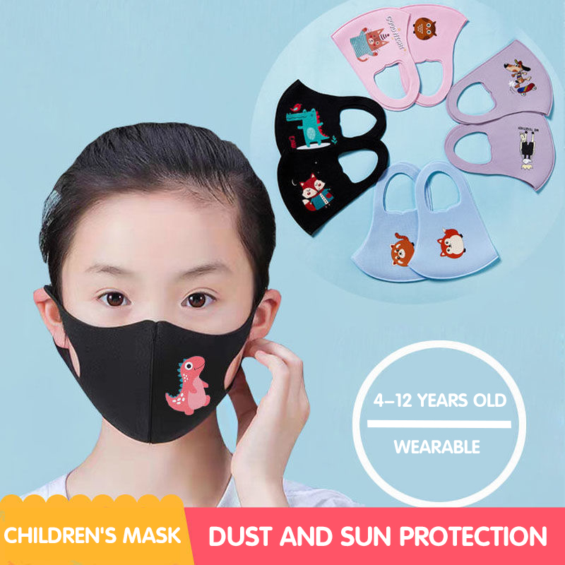 PM2.5 Children Anti-pollution Masks K Cartoon Mouth designerFace N Kids Anti-Dust Breathable Earloop Washable Reusable Cotton 95 face Masks