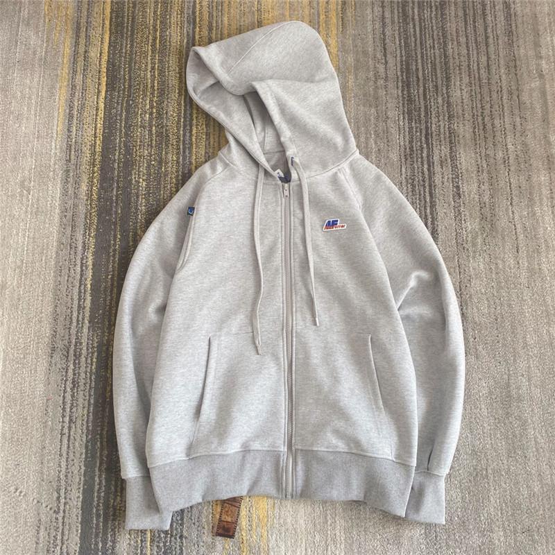 2021fw Double zip Hoodie Men Women 1 Best Quality Embroidered Sweatshirts Hoodies Pullovers