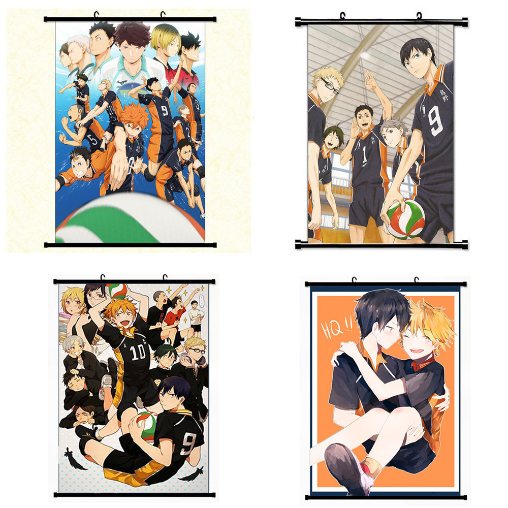 Haikyu Anime Poster Figures Wall Decor Hinata Shoyo Volleyball Kageyama Tobio Sport Action Haikyuu Model Doll Toys Gift Juguetes