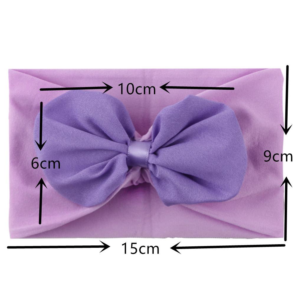 infant baby newborn Turban Headband Soft Lotus leaf flower stretch cloth headscarf Headwraps Bow Knot Headbands Girls Hair Accessories B446
