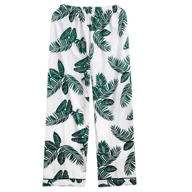 Leaf-Print-Pajama-Set-Green-Short-Sleeve-Tops-Long-Pants-Pajama-Sets-For-Women-Spring-Casual (2)