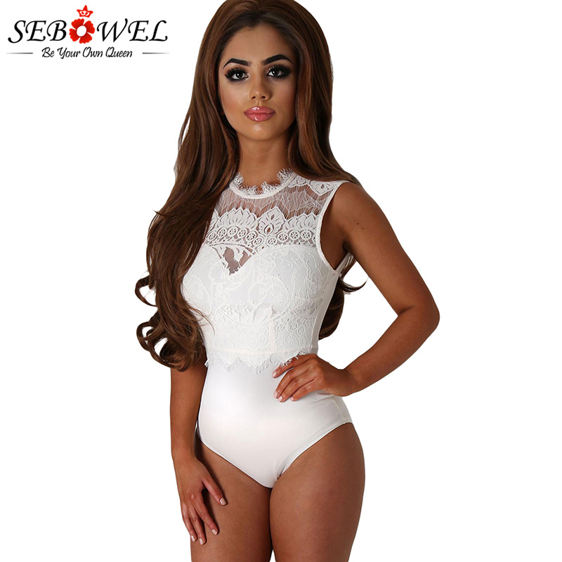 White-Lace-High-Neck-Cut-Out-Back-Bodysuit-LC32050-1-1