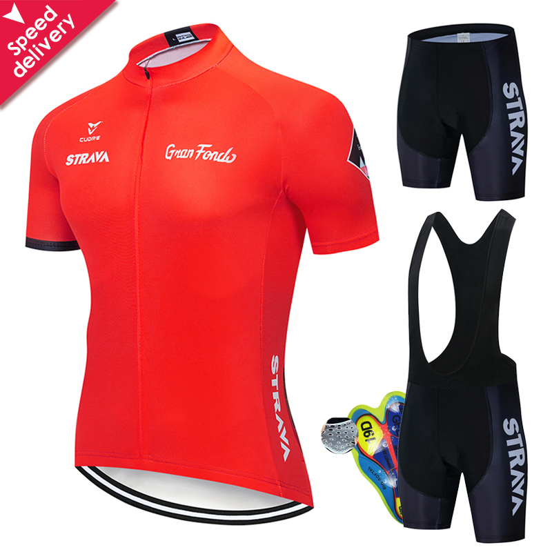 Cycling Clothing 2020 STRAVA Men Cycling Set Bike Clothing Breathable Anti-UV Bicycle Wear/Short Sleeve Cycling Jersey Sets