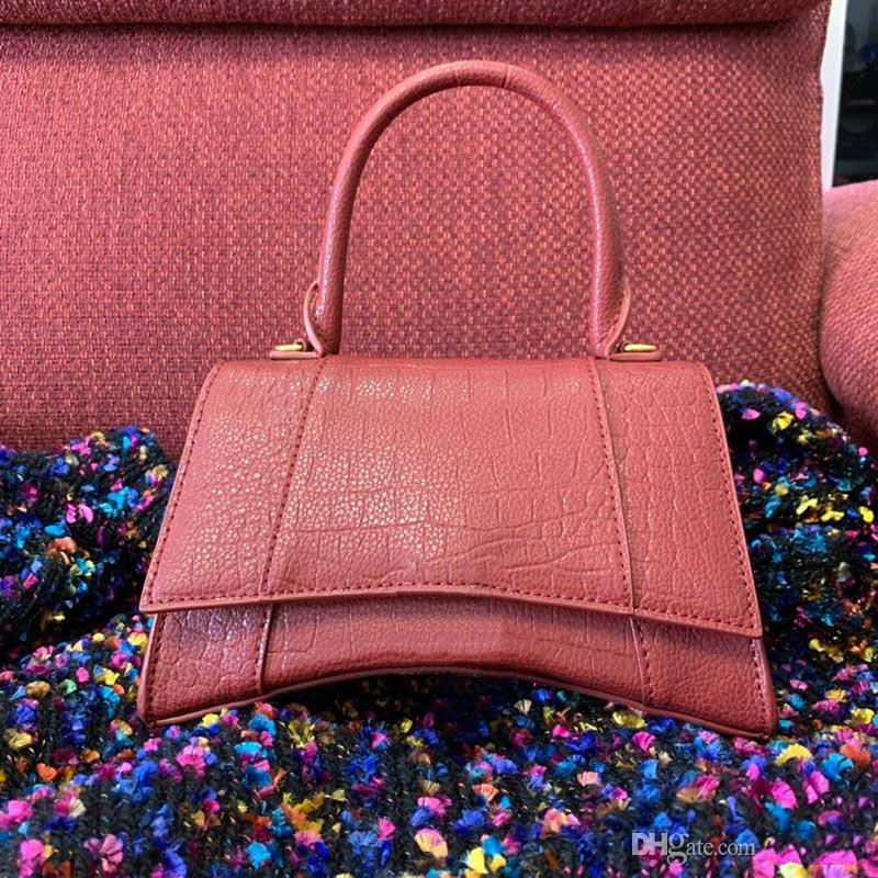 Classic Luxury Hourglass Shape Alligator Handbags Flap Chain Shoulder Bags Designer Handbag Women Clutch Messenger Bag Purse Shopping Tote