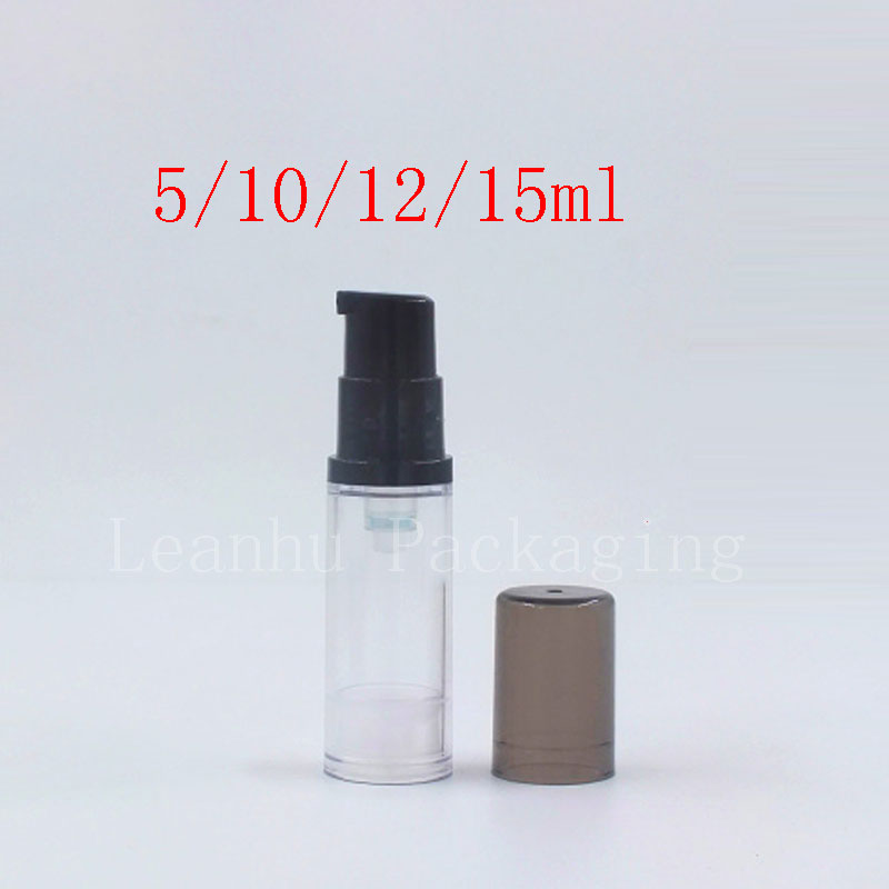 5ml 10ml 12ml 15ml transparent black airless bottles (1)
