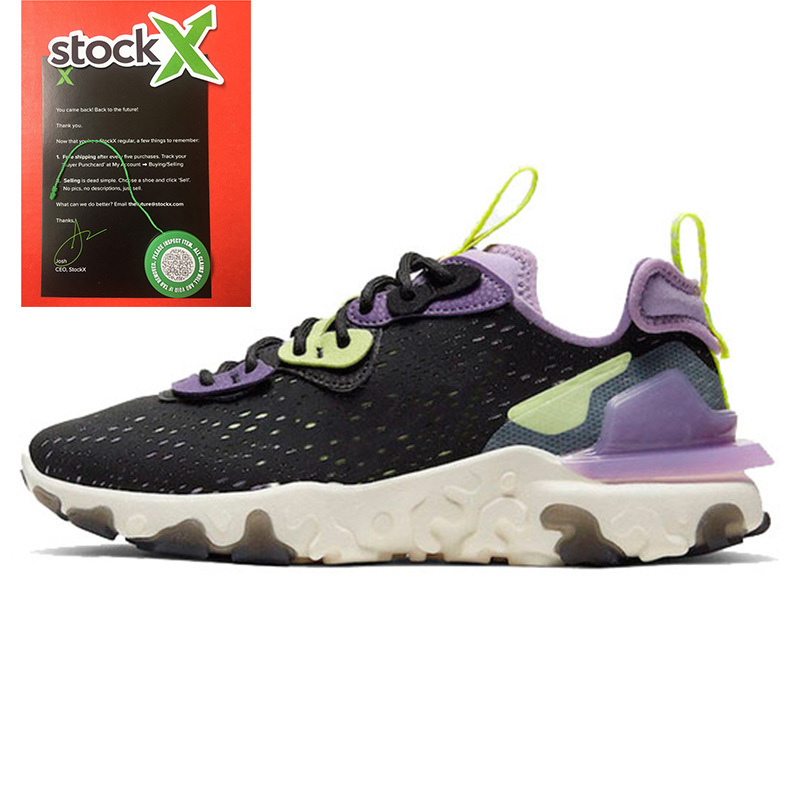 2020 Top EPIC React Vision Shoes React Element 55 UNDERCOVER 87 Running Shoes Men Women Black Iridescent Gravity Purple Trainers Sneakers