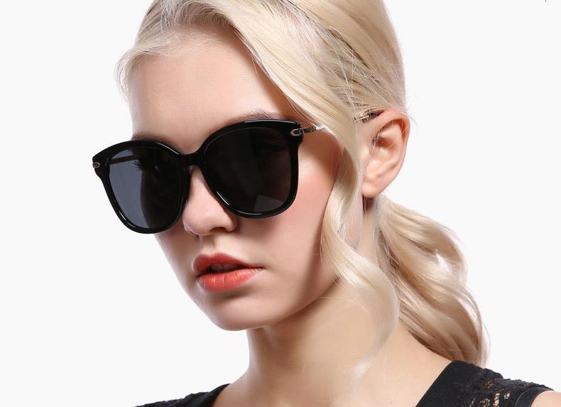 Ralferty Polarized Sunglasses Women Luxury Designer Rhinestone Crystal Temple Sun Glasses Gradient UV400 Sunnies Eyewear D201956